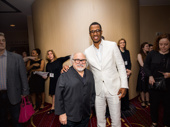 Tony nominees Danny DeVito and Corey Hawkins meet up.