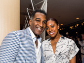 Sweeney Todd star Norm Lewis takes a photo with A Doll's House, Part 2's Condola Rashad.