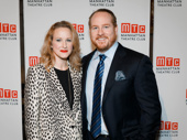 Two-time Tony winner Katie Finneran and her husband Darren Goldstein step out.