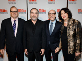 Congrats to Matthew C. Blank! The evening's host Mandy Patinkin as well as MTC's Executive Producer Barry Grove and Artistic Director Lynne Meadow snap a group photo with this year's honoree.