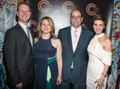 Come From Away's Outer Critics Circle winners: music duo David Hein and Irene Sankoff, director Christopher Ashley and standout performer Jenn Colella.