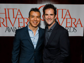 Sergio Trujillo and Andy Blankenbuehler get together. They are nominated for choreographing A Bronx Tale and Bandstand, respectively.