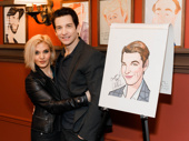 Andy Karl celebrates his Sardi's portrait with wife and fellow Tony nominee Orfeh.