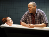 Katy Sullivan as Ani and Victor Williams as Eddie in Cost of Living.