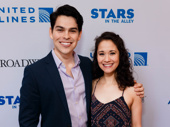Phantom of the Opera's Rodney Ingram and Ali Ewoldt snap a sweet pic.