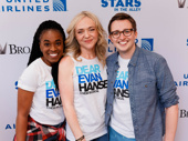 Dear Evan Hansen's Kristolyn Lloyd, Rachel Bay Jones and Will Roland are all smiles for Stars in the Alley.