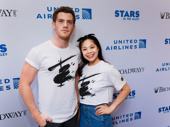 Miss Saigon stars Alistair Brammer and Eva Noblezada snap a sweet pic.