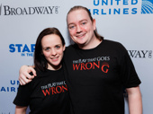 The Play That Goes Wrong's Charlie Russell and Rob Falcone snap a pic.