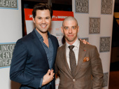 Falsettos Tony nominees Andrew Rannells and Christian Borle get together.