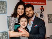 Awww! Stephanie J. Block, Brandon Uranowitz and Anthony Rosenthal snap a sweet pic at the Falsettos premiere.