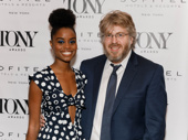 The Great Comet Tony nominee Denée Benton and Tony-nominated creator Dave Malloy take a photo.