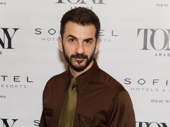 Oslo Tony nominee Michael Aronov looks sharp.