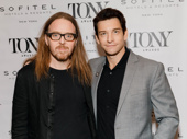 Groundhog Day's Tony-nominated songwriter Tim Minchin and Tony nominee Andy Karl snap a pic.