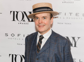 Oslo Tony nominee Jefferson Mays snaps a pic.