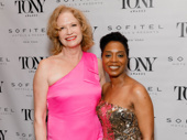 Sweat Tony nominees Johanna Day and Michelle Wilson hug it out.