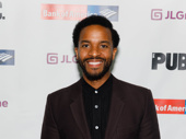 André Holland looks sharp for the Public's annual gala. He has appeared in numerous Public Theater productions.