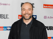 Six-time Tony nominee Danny Burstein snaps a pic.