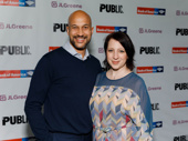 Hamlet-bound star Keegan-Michael Key and Elisa Pugliese have arrived.