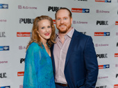 Tony winner Katie Finneran and her husband Darren Goldstein attend the Public Theater gala.