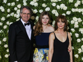 Oslo's Tony-nominated director Bartlett Sher and his wife Kristin and their daughter