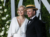 Oslo Tony nominee Jefferson Mays and his wife Susan Lyons