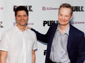 Tony- and Pulitzer Prize-winning music man Tom Kitt and Tony winner Bill Irwin attend opening night of Julius Caesar.