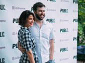 Cobie Smulders and Taran Killam spend date night at Shakespeare in the Park.