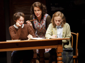 Jordyn DiNatale as Francesca, Alyssa Bersnahan as Luda and Juliet Brett as  in Connie in Napoli, Brooklyn.