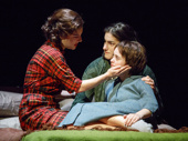 Elise Kibler as Vita, Lilli Kay as Tina and Jordyn DiNatale as Francesca in Napoli, Brooklyn.