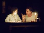 Jordyn DiNatale as Francesca and Michael Rispoli as Nic in Napoli, Brooklyn.