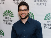 Stage and screen favorite Jeremy Jordan looks sharp.
