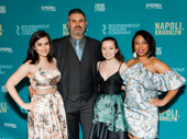 Napoli, Brooklyn understudies Kate Levy, John Pasha, Kara Ashlee Oates and Toccarra Cash celebrate.