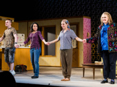 Marvin's Room stars Jack DiFalco, Janeane Garofalo, Lili Taylor and Celia Weston take their opening night bow.