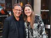 Director Michael Greif checks out Marvin's Room with actress Camryn Manheim.