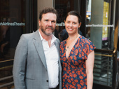 Director/actor Douglas Hodge attends the opening night with Amanda Miller.