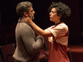 Oscar Isaac as Hamlet and Roberta Colindrez as Rosencrantz in Hamlet