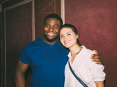 The story of tonight! Onaodowan reunites with his Hamilton pal Phillipa Soo.
