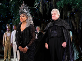 All hail! Phylicia Rashad and Richard Poe take in the crowd.