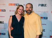 Three-time Tony nominee Rebecca Luker steps out to support her husband Danny Burstein in A Midsummer Night's Dream.