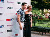 Theater couple Casey Cott and Stephanie Styles are ready for their close-up.