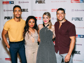 A Midsummer Night's Dream's lovers: Kyle Beltran, Shalita Grant, Annaleigh Ashford and Alex Hernandez.