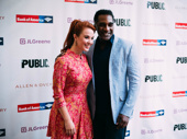 Broadway faves Sierra Boggess and Norm Lewis reunite at the  Midsummer Night's Dream opening.