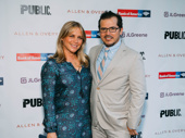 Tony nominee John Leguizamo and his wife Justine Maurer spend date night at Shakespeare in the Park's midsummer opening.