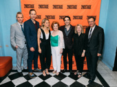 Happy opening to A Parallelogram's off-Broadway company: scribe Bruce Norris, Stephen Kunken, Celia Keenan-Bolger, Anita Gillette, Juan Castano, Carole Rothman and director Michael Greif.