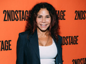 Two-time Tony nominee Daphne Rubin-Vega works the red carpet.