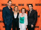A Parallelogram's Stephen Kunken, Celia Keenan-Bolger, Anita Gillette and Juan Castano get together. Happy opening to the entire company!