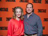 Tony winner Katie Finneran and her husband Darren Goldstein have arrived.