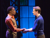 Alan Mingo Jr. and Andy Kelso in Kinky Boots.