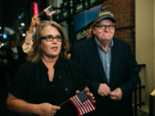 Stage and screen favorite Rosie O'Donnell and Michael Moore take to the streets.