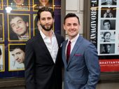 Max Von Essen, who performed in the 2012 revival of Evita, and Daniel Rowan attend the opening night of Prince of Broadway.